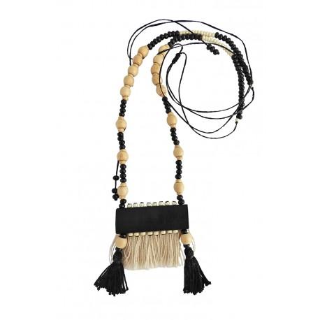 Pendant boho handmade/Tassels black  KL00563