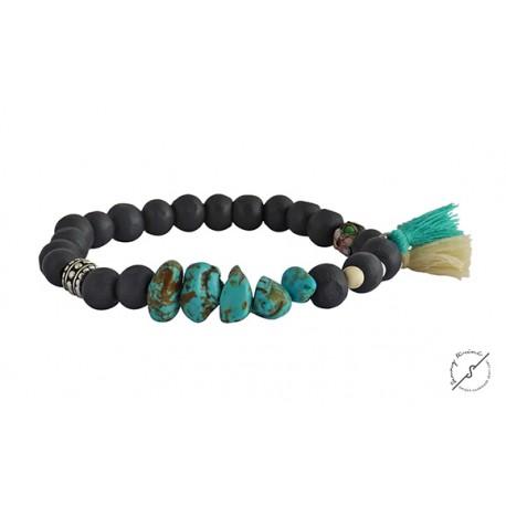 Βραχιόλι χειροποίητο Boho turquoise  BH0023