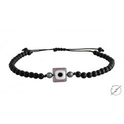 Ανδρικό βραχιόλι Eye black  VRA00419