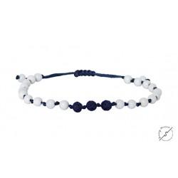 Ανδρικό βραχιόλι Onyx white - lava blue  VRA00433