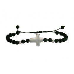 Ανδρικό βραχιόλι Σταυρός & Λάβα   VRA00165