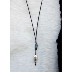 Ανδρικό μενταγιόν βότσαλο σταυρός KLA0016