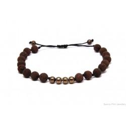 Ανδρικό βραχιόλι Lava brown  VRA00208