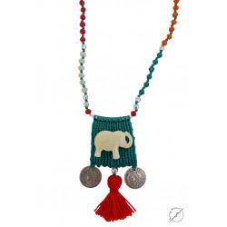 Κολιέ χειροποίητο Elephant 2  KL00552