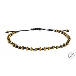 Ανδρικό βραχιόλι Hematite gold VRA00347
