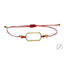 Βραχιόλι Minimal red  VR00575