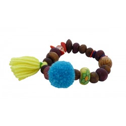 Βραχιόλι χειροποίητο Wooden beads  BH0021