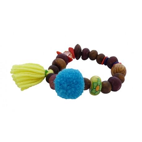 Βραχιόλι χειροποίητο Wooden beads  VR00427