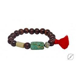 Βραχιόλι χειροποίητο Boho turquoise africa  BH0027