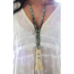 Κολιέ χειροποίητο African Turquoise  EX0001