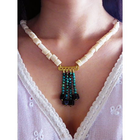 Necklace semi-precious stones  EX0003