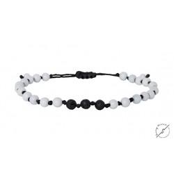Ανδρικό βραχιόλι Onyx white - lava black  VRA00434