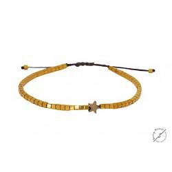 Βραχιόλι χειροποίητο Gold mat Star Hematite   VR00620