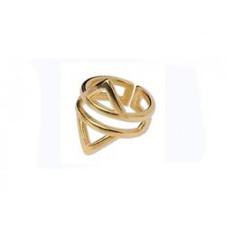 Δακτυλίδι Geometric gold  DA0008