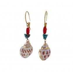 Σκουλαρίκια κοχύλια με μαργαριτάρια  SK00234