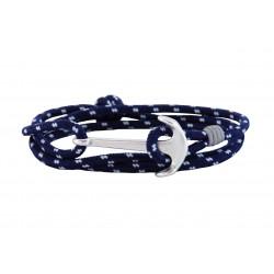 Ανδρικό βραχιόλι Anchor silver blue-white VRA00503