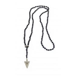 Ανδρικό Ροζάριο hematite beads Cross KLA0079