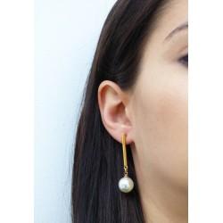 Σκουλαρίκι κρίκοι πλεχτοί  SK00241