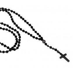 Ανδρικό χειροποίητο ροζάριο με αιματίτη σταυρό KLA0086
