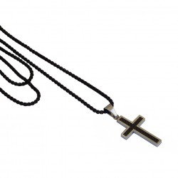 Ανδρικό μενταγιόν ατσάλινος σταυρός  KLA0083