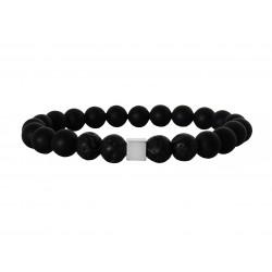 Ανδρικό βραχιόλι Lava & Onyx black  VRA00558