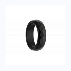 Ανδρικό δακτυλίδι Αχάτης μαύρος RI0015