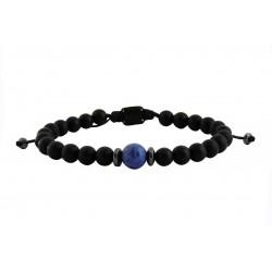 Ανδρικό βραχιόλι Onyx black - sodalite  VRA00598