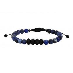 Ανδρικό βραχιόλι Sodalite - onyx black  VRA00600