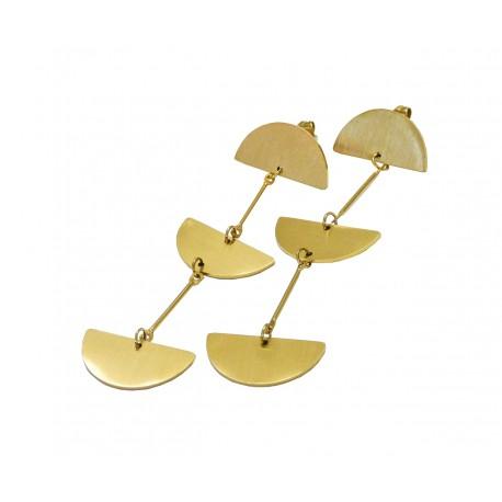 Σκουλαρίκια half  gold ατσάλινα SK00245