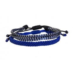 Ανδρικά βραχιόλια set 2  blue  VRA00625