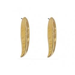 Σκουλαρίκια  leaf  gold 24Κ SK00249