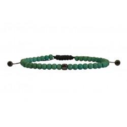 Ανδρικό βραχιόλι howlite green  VRA00633
