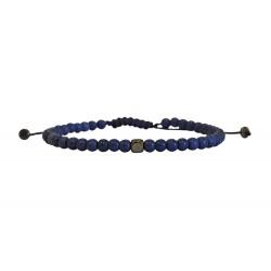 Ανδρικό βραχιόλι howlite dark blue  VRA00634