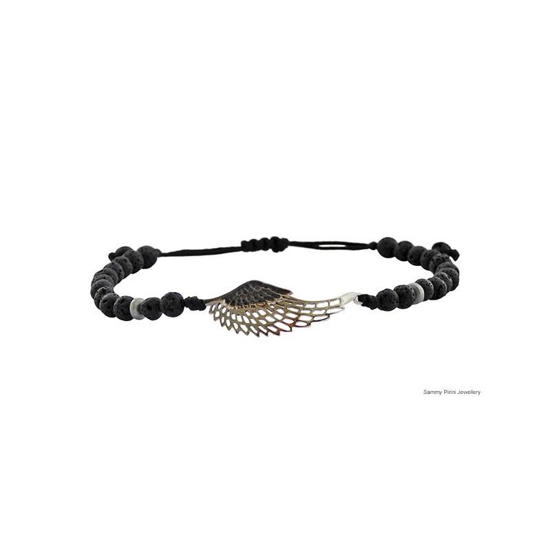 Ανδρικό βραχιόλι Φτερό ασήμι 925 VRA00223 - Sammy Pirini 2e9f6b71605