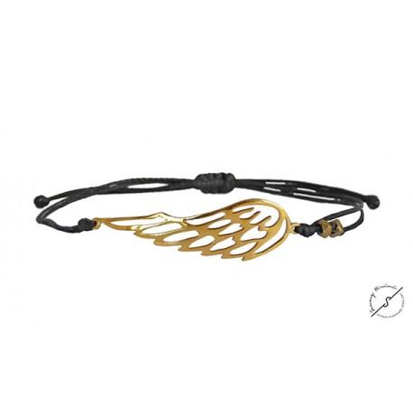 Ανδρικό βραχιόλι φτερό ασήμι 925 gold VRA00346