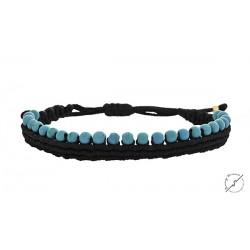Βραχιόλι macrame howlite beads  VR00584